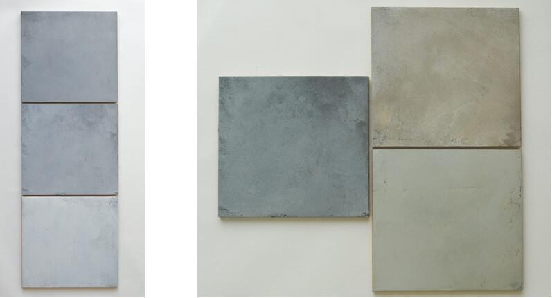 betonlook staaltjes warme en koelere tinten