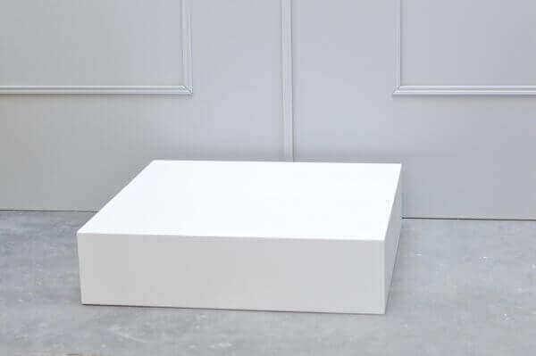 Etalage kubus wit zijaanzicht