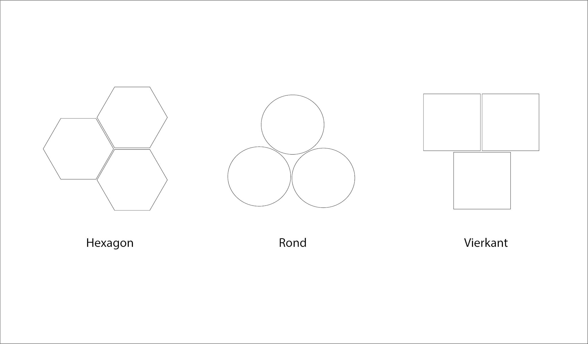 illustratie vorm sokkels en tussenruimte